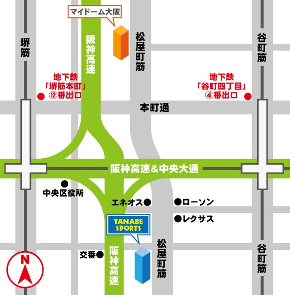 マイドーム大阪地図