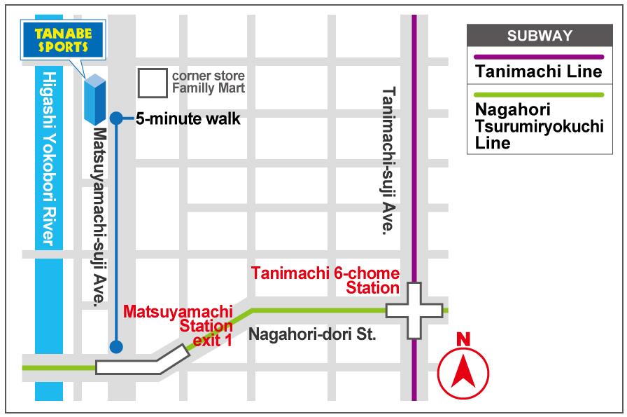 Route from Matsuyamachi Station