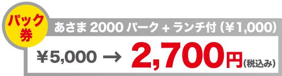 リフト券 あさま2000