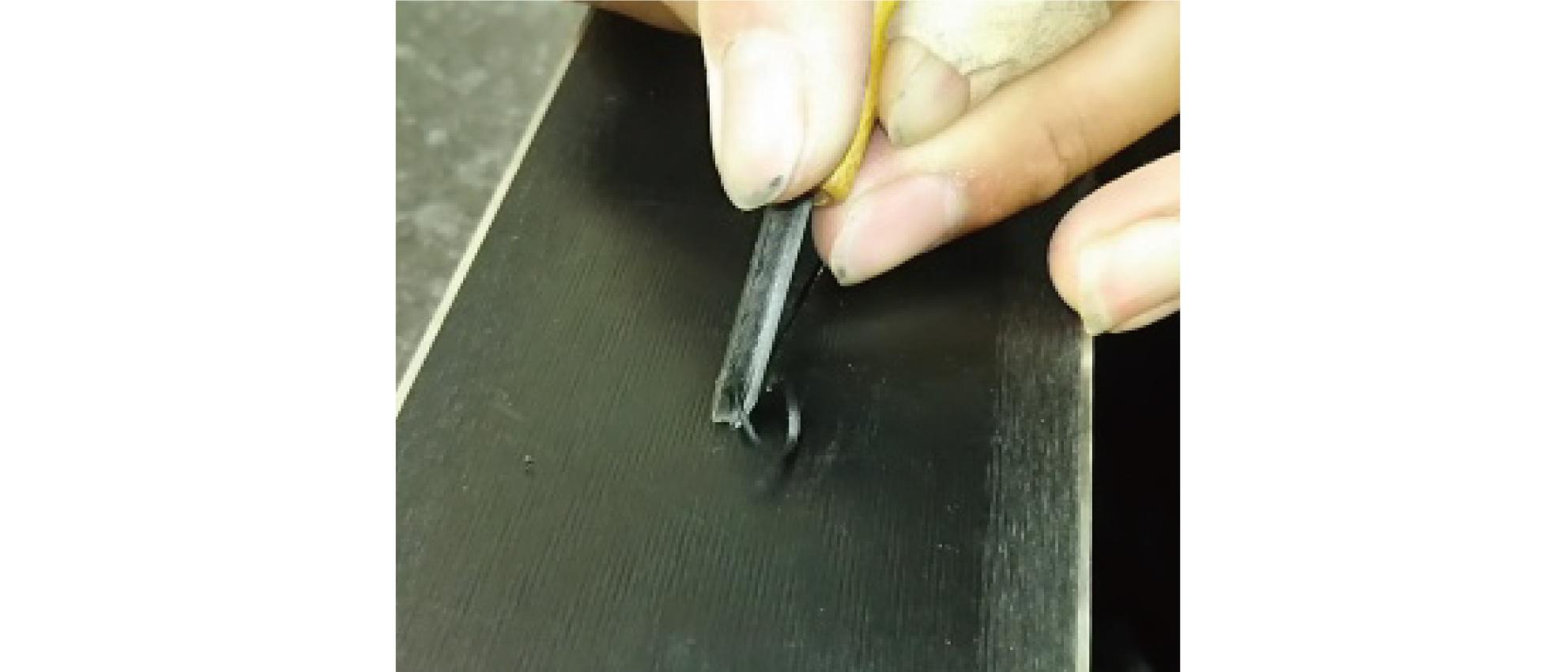チューン内容 ソールリペア彫る