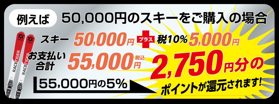 キャッシュレス5%還元お買物例
