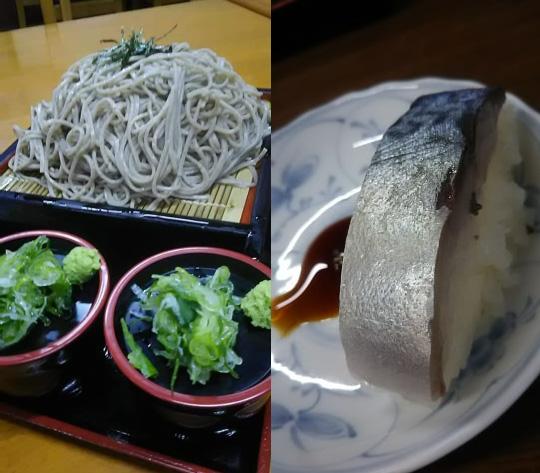 お蕎麦と鯖寿司/箱館そば 鴫野