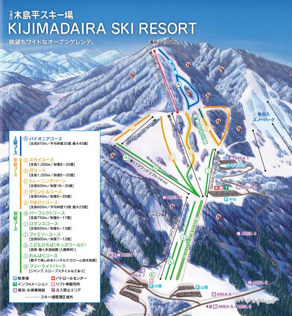 木島平スキー場 ゲレンデマップ