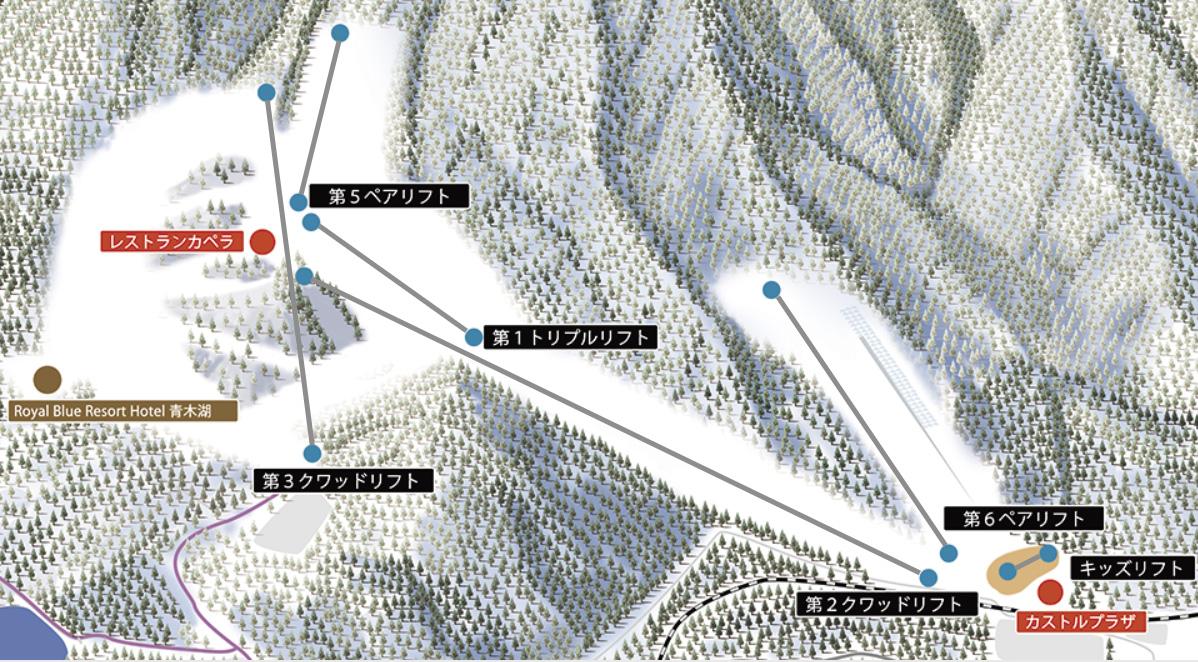 白馬さのさかスキー場 ゲレンデマップ